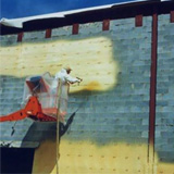 Masonry Wall Insulation, Air Barrier, Water Seal and Moisture Vapor Control with ccSPF